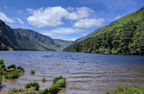 A rare glimpse of sun at Glendalough Ireland