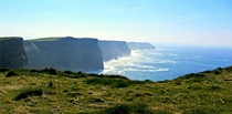A rare sunny day at the Cliffs of Moher Ireland