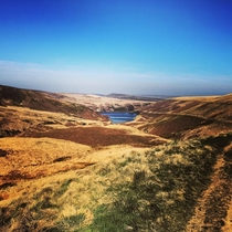 A rare sunny day on the moors of Yorkshire England x