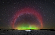 A Red Arc Over Sweden Photographed by Gran Strand in October