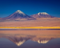 A reflection of Licancabur Atacama Desert Chile
