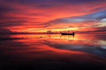 A reflection of sunset in Thailand