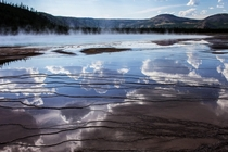 A reflective hot spring from Yellowstone National Park