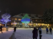 A reminder of winter in Whistler village to cool you down