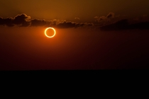 A Ring of Fire solar eclipse is a rare phenomenon that occurs when the moons orbit is at its apogee  X-Post rwhoadude