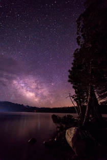A rising milky way just after sunset in the high sierras