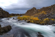 A river in ingvellir National Park Iceland