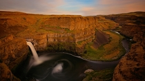 A River Reveals the Layers in Palouse Falls State Park Washington by Kevin Benedict