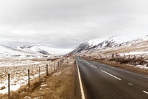 a road through the Grampian Mountains Scotland