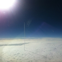 A rocket leaving Earths atmosphere