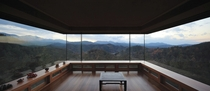 A room in Hyunam designed by Seung H-Sang overlooking the mountains of Gunwi County North Gyeongsang Province South Korea