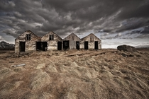 A row of abandoned houses in Iceland  by orsteinn H Ingibergsson