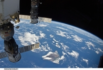 A Russian Soyuz and Progress over Hawaii