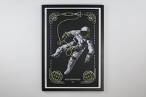 A screen printed poster of the Gemini Project Spacewalk