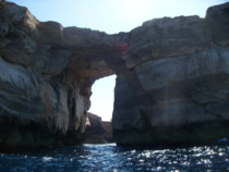 A sea arch in Malta