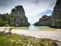 A secluded beach in Palawan the Phillipines  Photographed by Daniel Frauchiger