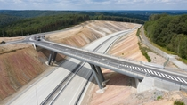 A section of the newly built E motorway near the French border in Belgium It was opened to the public a few days ago