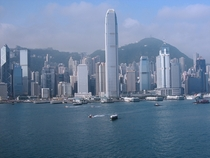 A senic view of Hong Kong Harbor