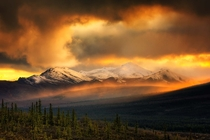 A September storm clears over the Teklanika River Valley in Denali National Park AK Photo by Dan Ransom