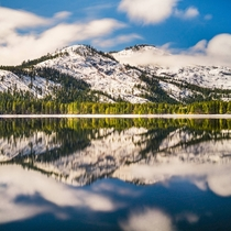 A shockingly calm morning at Donner Lake near Lake Tahoe California Never seen it this smooth before or since  - IG BersonPhotos