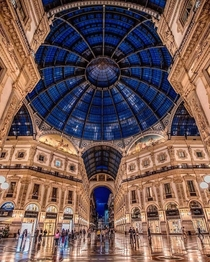A shopping mall in Milan Italy