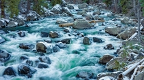 A short exposure of an icy creek near Leavenworth Washington