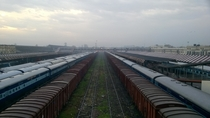 A shot from the foot-over bridge of Gorakhpur Junction railway station