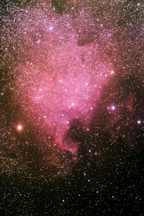A shot of the North America Nebula from my DSLR Mind blown  x