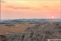 A shot taken at sunrise in the Badlands of South Dakota in the US taken by my Dad