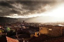 A shower over Cuzco Peru Blake Burton