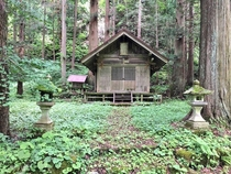 A shrine somewhere in the Hida Mountains Gifu prefecture Japan