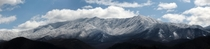 A six shot panoramic taken a few hours ago of Mount LeConte The Great Smoky Mountains National Park