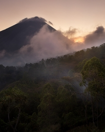 A sleeping volcano getting ready for bed Flores Indonesia