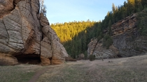 A small cave just a few miles outside of Flagstaff Arizona