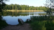 A small lake in Estonia