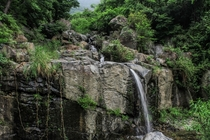 A small waterfall I found in the Korean countryside