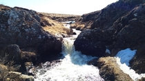A small waterfall near Goafoss Iceland OC
