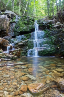 A Small Waterfall on Mount Willard Crawford Notch New Hampshire