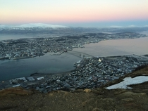 A snap I took this morning from Fjellheisen Troms overlooking the city