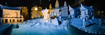A  snow and ice statue my fraternity made for this years Winter Carnival at Michigan Tech