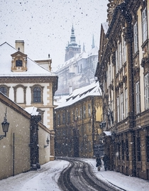 A Snowy Day in Prague  From justapackcom