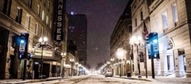 A snowy night in Knoxville x
