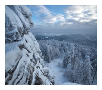 A snowy ridge in the Southern Urals Russia