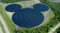A solar farm shaped like Mickey Mouse that powers Walt Disney World in Bay Lake USA
