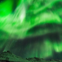A solar storm lighting up the sky in Troms Norway with Northern Lights  - more of my aurora shots at IG glacionaut