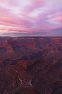 A spectacular Grand Canyon sunset