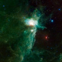 A spectacular view of the Flame Nebula from NASAs Wide-field Infrared Survey Explorer WISE What does it look like to you
