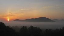 A Spring Sunrise over the Blueridge Mountains  just outside Charlottesville