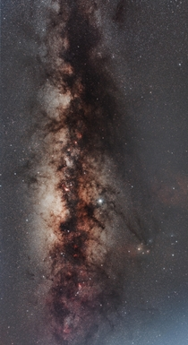 A stack image of the Milky Way from  mins of imaging from Abu Dhabi UAE