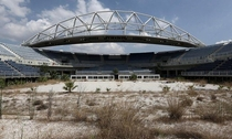 A stadium used for the Olympic in Athens in